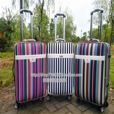 新款条纹密码箱学生拉杆行李箱子旅行2024寸保罗男女拖箱小箱包邮