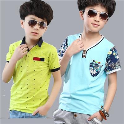 1男孩子7夏装8儿童9短袖衬衫10男童装4小学生6到12岁T恤衬衣服薄