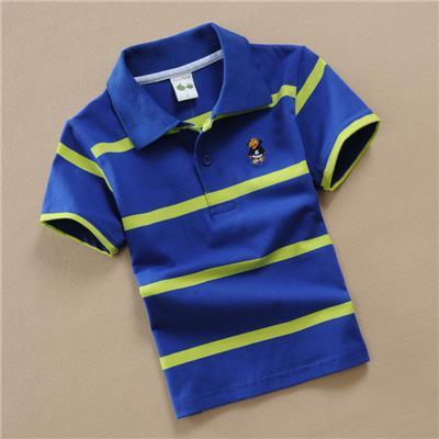 男孩子7夏天8儿童9短袖上衣10男童装4小学生6到12岁T恤条纹衣服孩