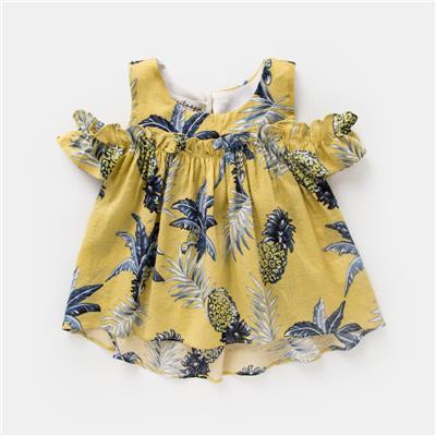 女宝宝娃娃衫女童夏装201新款婴儿吊带背心打底薄款童装韩版上衣