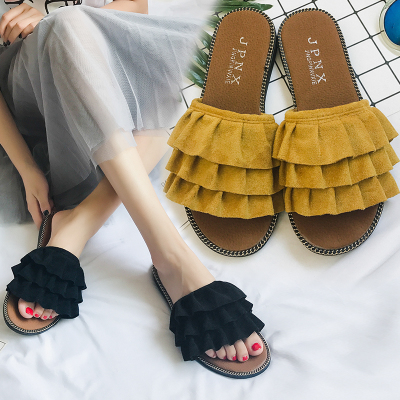 2018夏新款网红拖鞋女一字拖韩版休闲防滑平底凉拖鞋女士沙滩鞋