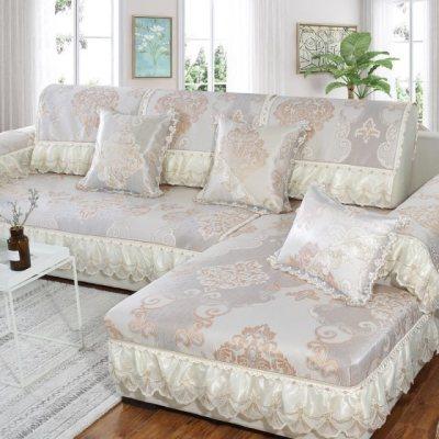 夏季冰丝凉席沙发垫凉席坐垫欧式凉垫防滑�f能套通用夏天全包罩巾
