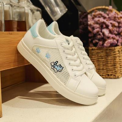 201夏季新款网布透气网鞋女式板鞋镂空韩版学生小白鞋女休闲女鞋