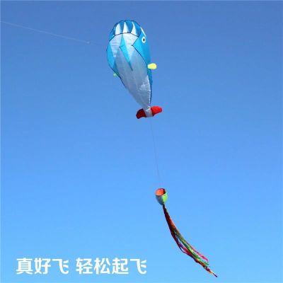 1风软体鲸鱼风筝大型串手绘超大儿童风筝盘个性