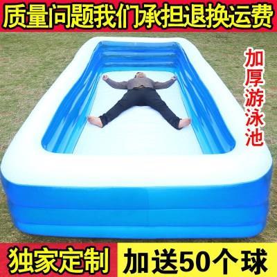 加厚大型家庭充气游泳池婴儿小孩儿童成人超大号家用海洋球戏水池