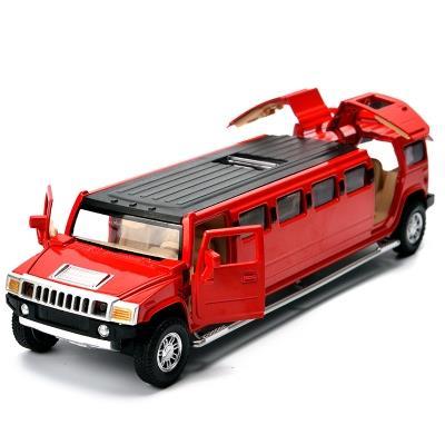 悍马加长版合金小汽车模型路虎回力车仿真车模合金车男孩儿童玩具