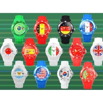 2018俄罗斯世界杯周边纪念品各国国旗表男女运动手表FIFA足球手表