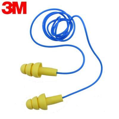 3M 340-4004防噪音耳塞隔音 游泳学习射击可清洗工业降噪劳保防护