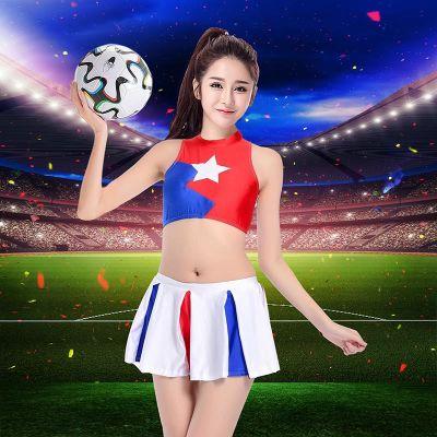2018世界啦啦队女成人儿童球衣杯足球宝贝服装女套装夜场酒吧演出